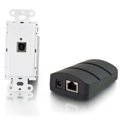 C2G-53878 | USB 2.0 Over Cat5 Superbooster Wall Plate Transmitter to Dongle Receiver Kit