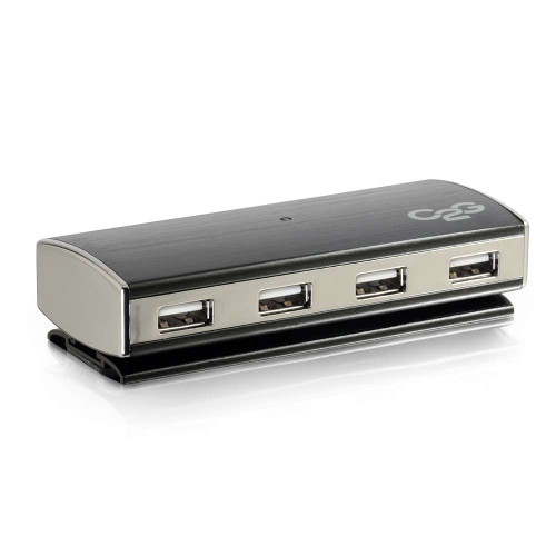 C2G-29508 | 4-Port USB 2.0 Aluminum Hub for Chromebooks, Laptops, and Desktops
