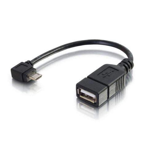 C2G-27320 | 6in Mobile Device USB Micro-B to USB Device OTG Adapter Cable