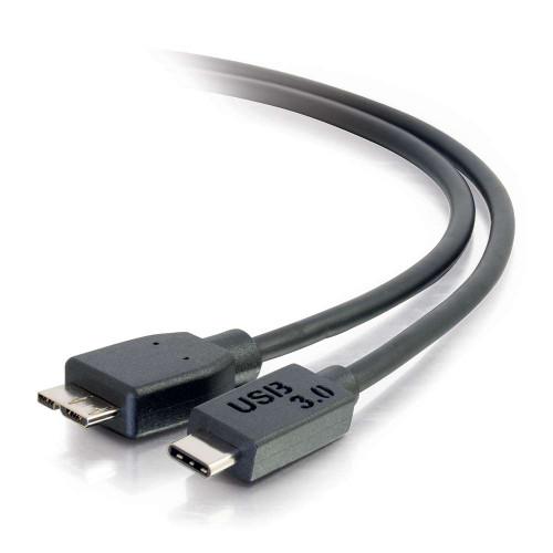 C2G-28862 | 3ft USB 3.0  USB-C to USB Micro-B Cable M/M - Black