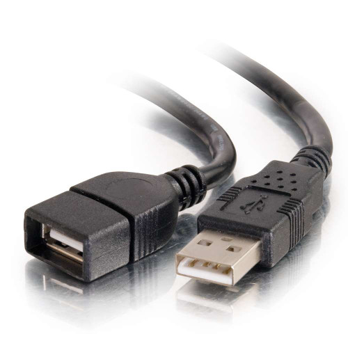 C2G-52106   1m USB 2.0 A Male to A Female Extension Cable - Black