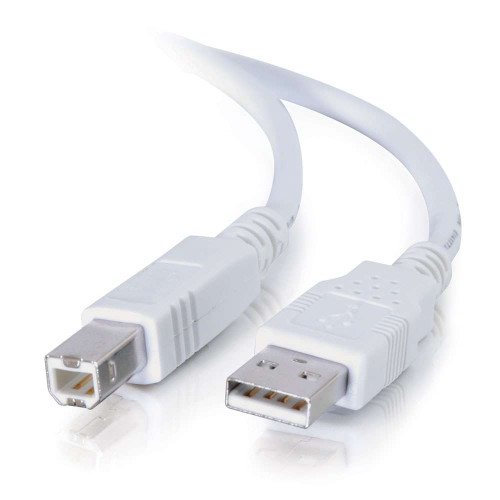 C2G-13172 | 2m USB 2.0 A/B Cable - White
