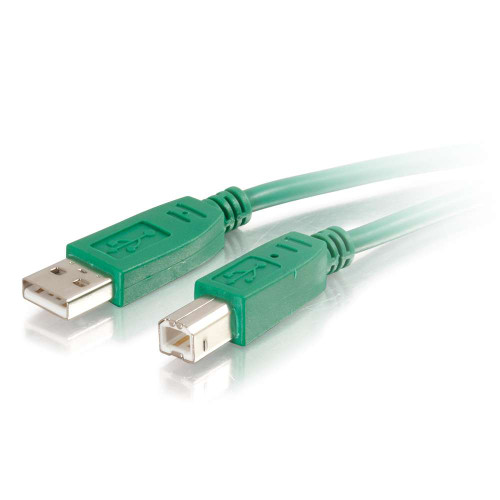 C2G-35667   2m USB 2.0 A/B Cable - Green