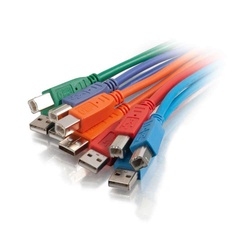 C2G-35679 | 2m  USB 2.0 A/B Cable Multipack  - Multi-Color