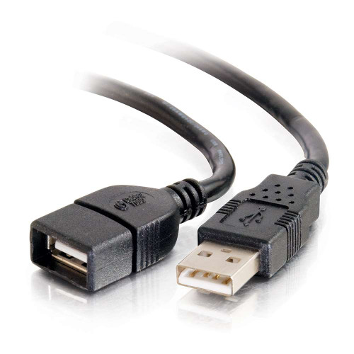 C2G-52107   2m USB 2.0 A Male to A Female Extension Cable - Black