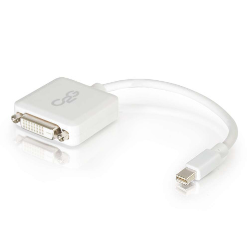 C2G-54312 | 8in Mini DisplayPort Male to Single Link DVI-D Female Adapter Converter - White (TAA Compliant)