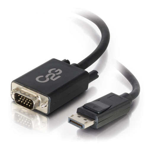 C2G-54333 | 10ft DisplayPort Male to VGA Male Active Adapter Cable - Black (TAA Compliant)