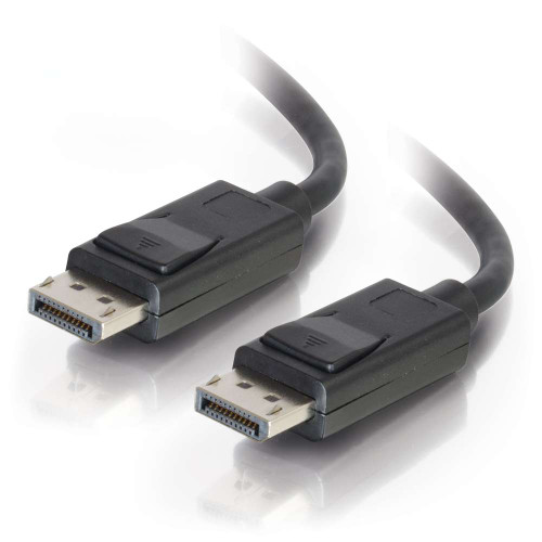 C2G-54402 | 10ft DisplayPort Cable with Latches M/M - Black