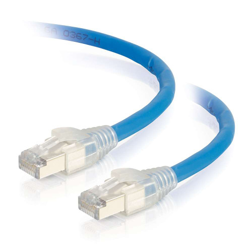 C2G-43173 | 75ft HDBaseT Certified Cat6a Cable with Discontinuous Shielding -  Plenum CMP-Rated - Blue