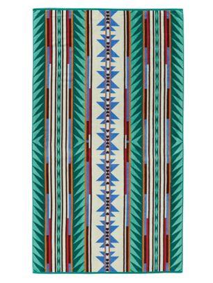 Pendleton Turquoise Ridge Jacquard Oversize Spa Towel