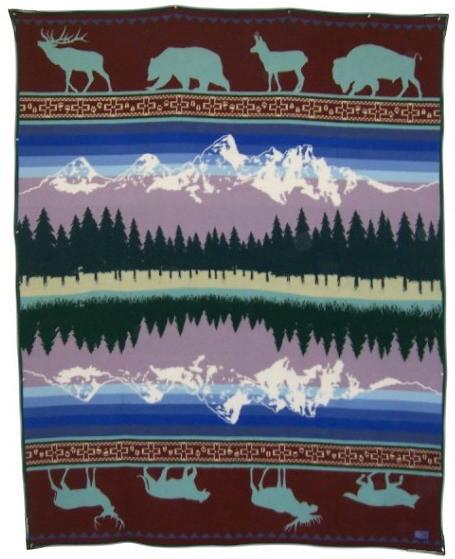 Pendleton Grand Teton 25th Anniversary Wool Blanket