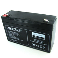 Amstron 6V/12AH Sealed Lead Acid Battery w/ F1 Terminal