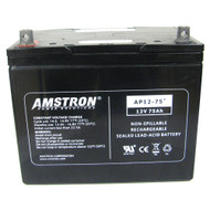 Amstron 12V / 75Ah Sealed Lead Acid Battery - NB Terminal
