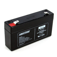 Amstron 6V/1.3AH Sealed Lead Acid Battery w/ F1 Terminal