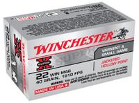WIN Super-X .22 Winchester Magnum Rimfire 40 Grain Jacketed Hollow Point 50 Per Box