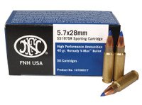 1,000 rounds FED 5.7x28mm 40 Grain Blue V-Max 50 Per Box FN USA Product Distributed By Federal Premium Free shipping