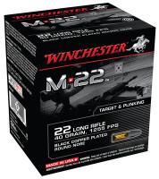 M22 .22 Long Rifle 40 Grain Lead Round Nose Black 1000 Bulk Rounds