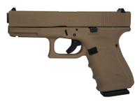 GLK Gen4 Glock 19 9mm 4 Inch Barrel Hot Cerakote Magpul Dark Earth Surface Finish Fixed Sights Made in the USA 15 Round
