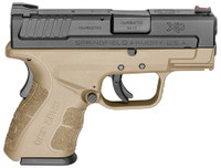 SAI XDG Mod.2 Sub-Compact 9mm 3 Inch Barrel Flat Dark Earth One 13 Round Compact Magazine and One 16 Round with X-Tension