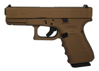 GLK Gen4 Glock 19 9mm 4 Inch Barrel Hot Cerakote Burnt Bronze Surface Finish Fixed Sights Made in the USA 15 Round