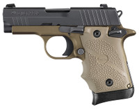 P938 Combat 9mm 3 Inch Barrel Siglite Night Sights Black Nitron Slide/Flat Dark Earth Frame and Grip 7 Rounds