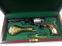 "COLLECTIBLE Cased Texas Ranger Hall of Fame and Museum Commemorative Ben McCulloch First Model Dragoon percussion revolver, .44 cal., 7-1/2"" barrel, blue, nickel and case hardened finish, wood grips with inlaid plaque"