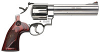 S&W Model 629 Deluxe .44 Magnum 6.5 Inch Barrel Satin Stainless Finish Adjustable White Outline Rear Sight Red Ramp Front Sight 6 Round
