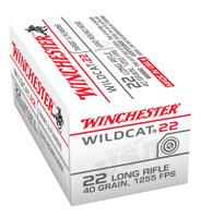 WIN Wildcat .22 Long Rifle 40 Grain Lead Round Nose Wildcat