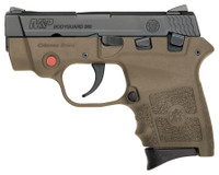 S&W M&P Bodyguard With Integrated Crimson Trace Red Laser .380 Auto 2.75 Inch Barrel Flat Dark Earth Finish Manual Thumb Safety 6 Round