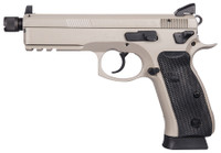 CZU CZ 75 SP-01 Suppressor Ready 9mm Luger 5.2 Inch Threaded Barrel High Tritium 3-Dot Sights Decocker Urban Grey Finish 18 Round