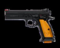 """CZ 91261 CZ 75 Tactical Sport Single 9mm 5.4"""" 20+1 Orange Aluminum Grip Blk"""