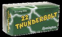Remington Ammunition TB22B Thunderbolt 22 LR Round Nose 40 GR 500 RD BOXES- 5,000 RDS -FREE SHIPPING