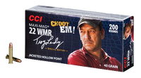 CCI 958 22 Winchester Magnum Maxi-Mag Swamp People JHP 40 GR 2,000 Rounds Free shipping