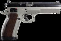 CZ 01171 CZ 75 Tactical Sport SAO 40 S&W 5.4 10+1 Wood Grip SS Frame Blk Slide*
