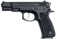 .CZ 91130 CZ 75 BD SA/DA 9mm 4.7 16+1 Black Syn Grip Black Finish