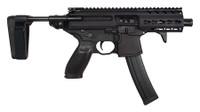 SIG MPX-K Pistol With SBX Pistol Stablizing Brace 9mm 4.5 Inch Barrel Aluminum KeyMod Handguard Black Finish 30 Round