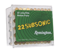 Remington Ammunition SUB22HP1 Subsonic 22 LR Hollow Point 38 GR 5,000 ROUNDS (100 ROUNDS PER BOX/50 BOXES) FREE SHIPPING