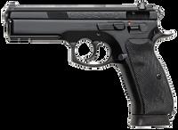 CZ 91152 CZ-75 SP-01 DA/SA 9mm 4.7 18+1 w/Rail Rubber Grip Black Finish*