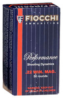 Fiocchi 22FWMB Hunting 22 WMR 40 GR JHP 50 Bx/ 40 Cs**