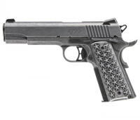 Sig Sauer 1911T45WTP 1911 We The People Single 45 Automatic Colt Pistol (ACP) 5 7+1 NS Star Aluminum Grip Distressed Stainless Steel*