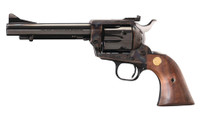 COL New Frontier Single Action Army .45 Colt 5.5 Inch Royal Blue Barrel and Cylinder Flat Top Case Colored Frame Walnut Stock 6 Round