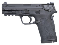 S&W M&P Shield EZ .380 ACP 3.6 Inch Barrel Black Finish Polymer Frame White Dot Front Sight Adjustable White Dot Rear Sight Manual Thumb Safety 8 Round