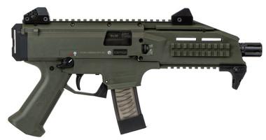 CZ Scorpion EVO 3 S1 9mm 20+1 OD Green Threaded, 806703913551, 91355