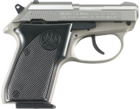 BER Model 3032 Tomcat .32 ACP 2.4 Inch Barrel Stainless Steel INOX Finish Wide Slide Plastic Grips 7 Round