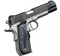 Kimber Master Carry Custom Matte Black / Satin Silver .45 ACP 5-inch 8Rd Night Sights Crimson Trace Lasergrip
