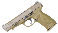 "Smith & Wesson 11989 M&P 9 M2.0 9mm Luger Double 5"" 17+1 NMS Flat Dark Earth Interchangeable Backstrap Grip Flat Dark Earth Armornite Stainless Steel Slide"