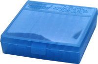 MTM AMMO BOX .22LR 100-ROUNDS CLEAR BLUE