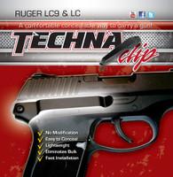 TECHNA CLIP HANDGUN RETENTION CLIP RUGER LC9/LC380 RIGHT