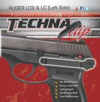 TECHNA CLIP HANDGUN RETENTION CLIP RUGER LC9/LC380 LEFT
