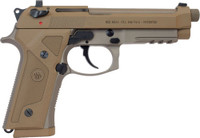 BERETTA M9A3 G 9MM 5.2 NS 17-SHOT THREADED TAN ITALY 7562